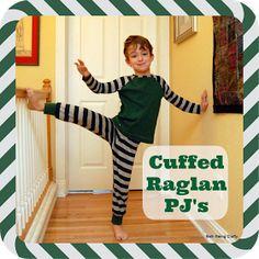 Beth Being Crafty: Striped Raglan Jammies