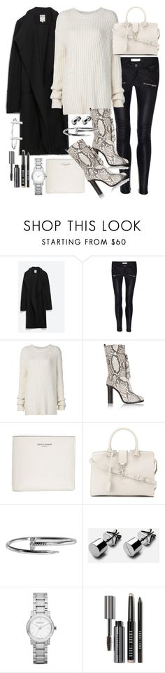 """Untitled #20179"" by florencia95 ❤ liked on Polyvore featuring Zara, Anine Bing, ADAM, Lanvin, Yves Saint Laurent, Burberry, Bobbi Brown Cosmetics and French Connection"