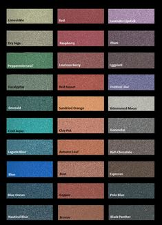 Modern Masters metallic plasters color chart