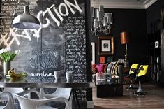 Jimmie old London flat featuring his beautiful imperfection graffiti wallpaper and sausage dog cushions - can you believe that this place was rented and used to be painted top to bottom in Magnolia ?