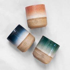 Willow Vane handmade ceramics Mixed Series No. 4 gradient mugs Pottery Gifts, Pottery Mugs, Ceramic Pottery, Pottery Art, Earthenware, Stoneware, Keramik Design, Sculptures Céramiques, Pottery Classes