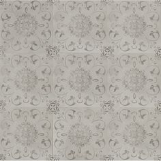 "Grayson Martin Concrete Loft Deco 24"" x 24""  Porcelain Field Tile in Light Gray"