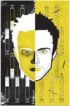 rocket86  Jesse Pinkman poster by Micah Lanier