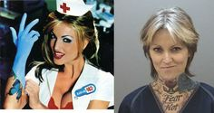 The woman on the Blink-182 album was arrested this year, and this is what her mugshot looked like: