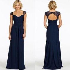 Sexy bridesmaid dress,lace bridesmaid dresses,backless bridesmaid dresses,navy bridesmaid dresses,long bridesmaid dresses