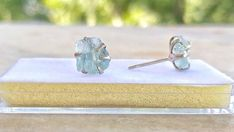 Sterling Silver Earrings Studs, Stud Earrings, Light Blue Gemstone, Aquamarine Stone, Beautiful Earrings, Decoration, Natural Gemstones, Etsy Store, Gifts For Mom