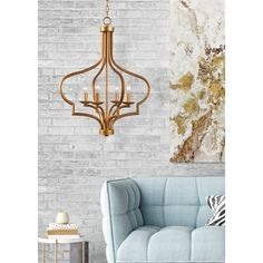 26 Inch Height, 22 Inch Width  $204 for Motif 4 Light Chandelier. Get free shipping at Overstock.com - Your Online Home Decor Outlet Store! Get 5% in rewards with Club O!