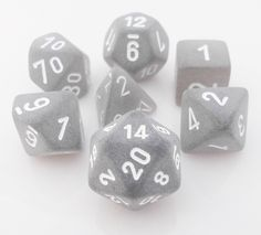 Frosted Dice (Black) RPG Role Playing Game Dice Set