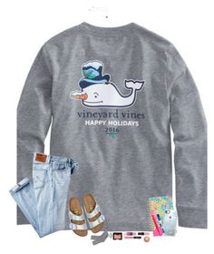 """""""our winter break starts tomorrow """" by hopemarlee ❤ liked on Polyvore featuring Vineyard Vines, AG Adriano Goldschmied, Birkenstock, Lilly Pulitzer, Casetify, Paper Mate, Benefit, NARS Cosmetics, J.Crew and MAC Cosmetics"""