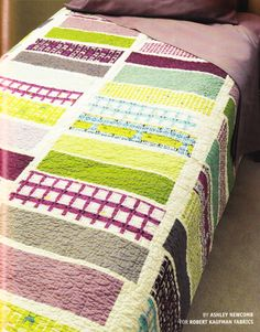 I pinned it here so you can see it!!  Modern Quilt - Love these colors!  This quilt screams Kenzi to me!!