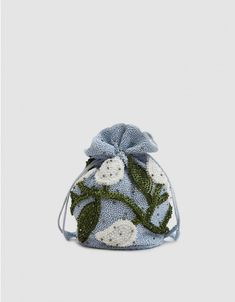Ganni Hand Beaded Bag in Heather Potli Bags, Creative Textiles, Art Bag, Beaded Bags, Couture, Small Bags, Fashion Bags, Women's Accessories, Lana