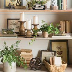 Birch Lane – Traditional Furniture & Classic Designs – Home Decor Decor, Farmhouse Decor, Milk Can Decor, Traditional Furniture, Shelf Decor Living Room, Bookshelf Decor, Farmhouse Bookshelf Decor, Decorating Bookshelves, Bookcase Decor