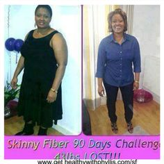 "Wow! Great Job Tandi! Tandi says, ""I took my Skinny Fiber everyday without fail with loads of water, ate balanced meals at the same time watching the white carbohydrates. Did some exercises 3 to 4 times a week. Above all I believed I would lose weight because others had done it. Skinny Fiber works!"" Order here: www.gethealthyphyllis.com/sf"