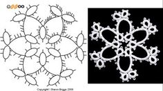 Sharon's Tatted Lace: Look what the snowflake grew into