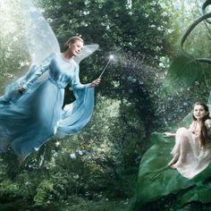 Disney Dream Portrait Series | Annie Leibovitz | Jule Andrews as The Blue Fairy and Abigail Breslin as Fira