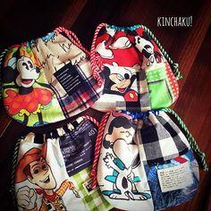 きんちゃく! #ハンドメイド #handmade #シーツリメイク #スヌーピー #ミッキー Drawstring Pouch, Sewing Kit, Denim Bag, Handmade Bags, Bag Making, Purses And Bags, Diy And Crafts, Cheer, Sewing Projects