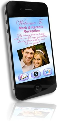 Coolest Wedding APP!!! Eliminates the need for disposable cameras at weddings! Fully customized to you and your event details. Guest-to-Guest Photo Sharing – photos captured by your guests are instantly shared with all other guests in real time! It's like everyone's using the same camera at the same time! Also features a live big screen slide show as photos are being taken by your guests in real-time.
