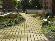 Ideakuvat | Rudus Paving Stones, Urban Landscape, Sidewalk, Golf, Side Walkway, Walkway, Flooring, Walkways, Turtleneck