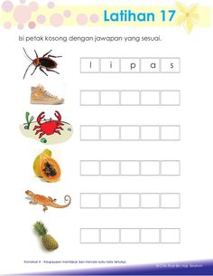 Aktiviti asas membaca Reading Worksheets, School Worksheets, Worksheets For Kids, Kindergarten Lessons, Kindergarten Reading, Kindergarten Worksheets, Malay Language, Preschool Writing, Home Schooling