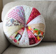 Round Pillow with Insert Round Cushion Decorative  pillow by SaidoniaEco
