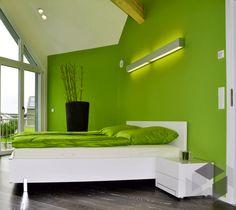 Uberlegen Schlafzimmer In Grün Aus Einem Haas Haus ➤ Auf Der ___ Fertighaus.de ___  Webseite Findest Du Eine Große Auswahl An Häusern Verschiedener Stile Und  Von ...