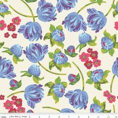 Floribella Main in Cream  c4320 - FLORIBELLA by Emily Taylor - Riley Blake Designs Fabric  - 1 Yard