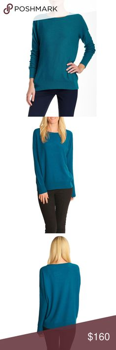 Vince Cashmere Sweater. NWT. • Brand new condition! • Light 100% cashmere sweater, perfect for layering • Ribbed. FIFA and hem • Peacock color/blue-green • Fit is semi loose • Approximately 25 inches • Size XS. Vince Sweaters Crew & Scoop Necks