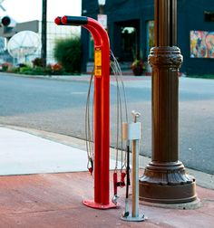 Public Workstand bike repair station by Huntco
