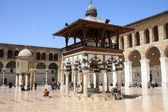 Innenhof der Umayyaden-Moschee in Damaskus