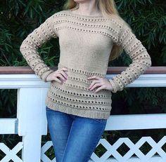 Beige Sweater. Hand knit sweater.Woman sweater. by FashionShop19