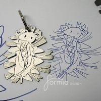 Kid's artwork transformed into keychains and other accessories - www.formiadesign.com