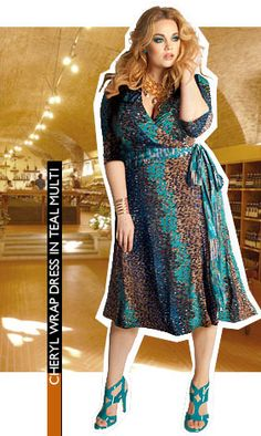 Cheryl Wrap Dress in Teal Multi. Love this IGIGI by Yuliya Raquel dress! What do you think?
