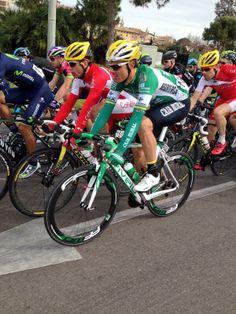 Luis León Sánchez ,primeras pedaladas con su nuevo equipo caja rural- seguros RGA.