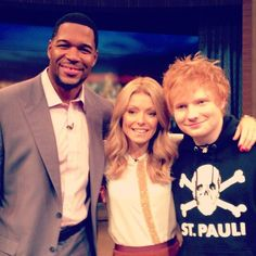Singer-songwriter Ed Sheeran perfomed his hit ATeam on #KellyandMichael | Watch it here: http://dadt.com/live/special/holiday/12/