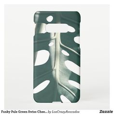 Funky Pale Green Swiss Cheese Plant Samsung Galaxy Case