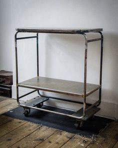 Vintage Industrial Metal trolley | eBay http://www.ebay.co.uk/itm/Vintage-Industrial-Metal-trolley-/251255709989?pt=UK_Antiques_AntiqueFurniture_SM=item3a8001e125