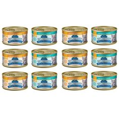 Blue Buffalo Grain-Free Wild Delights Cat Food Variety Pack - 2 Flavors (Chicken and Trout and Chicken and Turkey) - 12 (3 oz.) Cans - 6 of Each Flavor >>> See this awesome image  (This is an amazon affiliate link. I may earn commission from it)