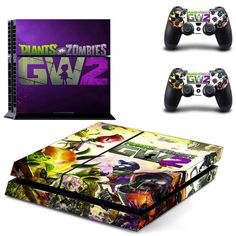 plants vs zombies garden warfare 2 design skin for ps4 decal sticker console & controllers - Decal Design