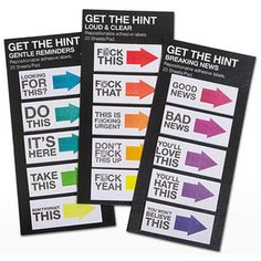 Think Geek's Get The Hint Mini Sticky Notes
