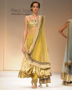 Yellow suit by Payal Singhal