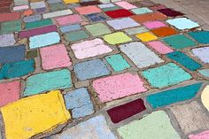 Painted cobble stones #coloreveryday