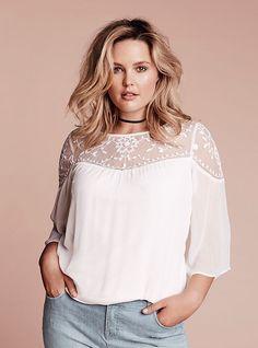a52b54cb17b Chiffon Lace Inset Top. Beach FashionBoho FashionWomens FashionCurvy Girl  FashionPlus Size ...