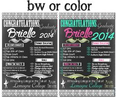 113 best modern graduation invites signs images on pinterest custom graduation chalkboard board by customprintablesny on etsy filmwisefo