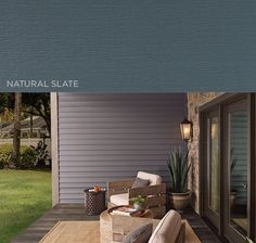 A hue that embodies the drama of a majestic granite cliff or the calm before a storm, Natural Slate is a mysterious shade that brings out the character of any style of home. | Get a FREE quote on Mastic vinyl #siding today! www.carefreehomescompany.com