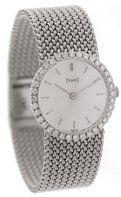 Piaget Vintage Ladies 18k White Gold Diamond Watch