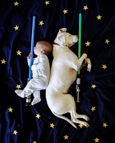 Puppy and baby photo shoot inspiration