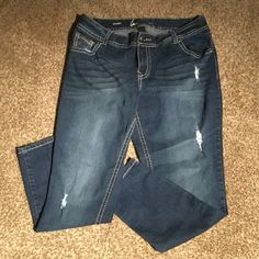 New condition Skinny Stretch LB Jean New condition. Dark wash. Super cute with ankle boots! Lane Bryant Jeans Skinny