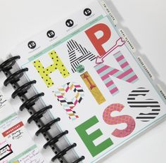 Create 365™ The Happy Planner™ March HAPPINESS weekly spread by mambi Design Team member Candi Billman   me & my BIG ideas