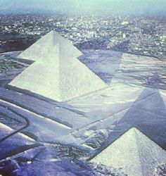 Snow has fallen on the pyramids of Egypt for the first time in 112 years (A.D. 2013)
