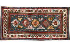 "Antique Kazak, 7'8"" x 4'2"" on OneKingsLane.com"